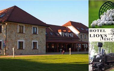 Oblíbený hotel LIONS - 3dny pro 2 s polopenzí, obědem, adventuregolfem, bazénem a teplým zábalem