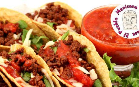 50% sleva na VEŠKERÁ JÍDLA v El Pueblo Mexicana Steak House!