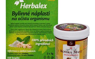 Herbamedicus Koňská mast Forte hřejivá 250 ml + Herbalex náplasti ZDARMA