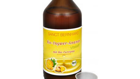 Allnature Bio Zázvorovo-ananasová šťáva s kurkumou 1 l