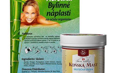 Herbamedicus Koňská mast Forte chladivá 250 ml + Herbalex náplasti ZDARMA