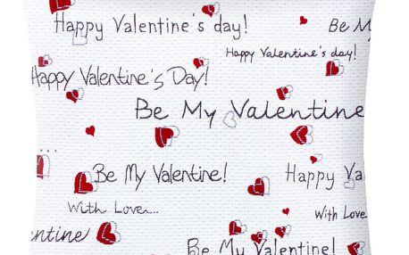 Povlak na polštář Valentine, 50x50 cm