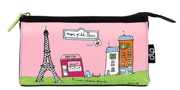 Bestseller Kosmetická taška Helen P'tit Paris, pink/green