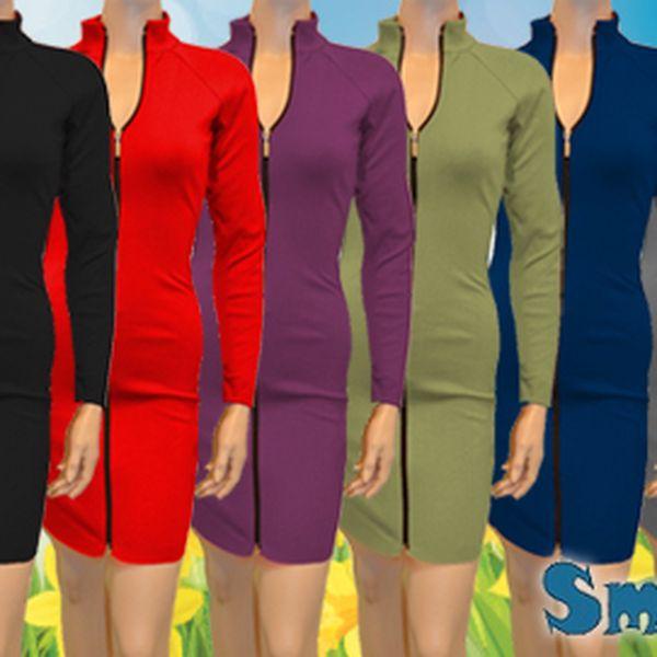 Dámské šaty s dlouhým zipem za 369 Kč! Česká výroba!