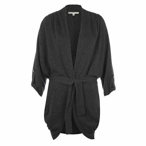 Dámský šedý zavazovací svetr Uttam Boutique