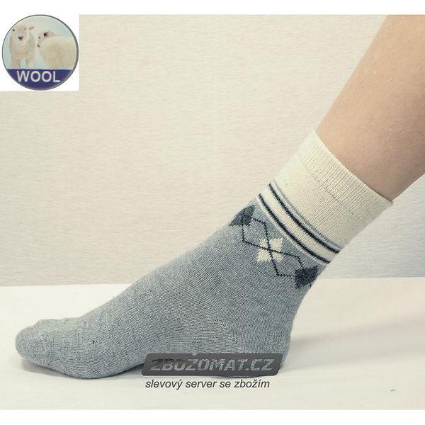 Dámské termo ponožky z vlny a angory