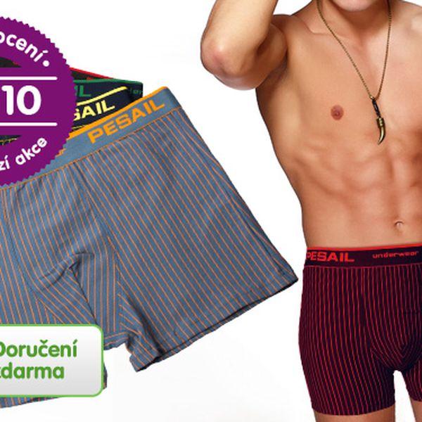 Pohodlné pánské boxerky – 4 ks