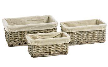 Set ratanových košíků