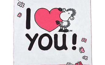 Flaušová deka Sheepworld Deka 150x200cm LOVE, Sheepworld
