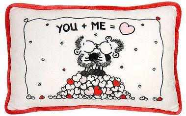 Polštář Sheepworld Polštář YOU + ME 38x24 cm