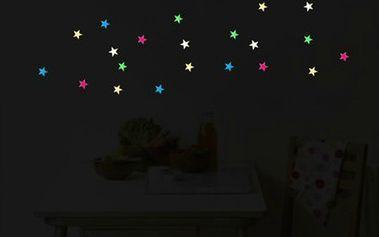 Svítící hvězdy na zeď - 28 kusů a poštovné ZDARMA! - 3707664