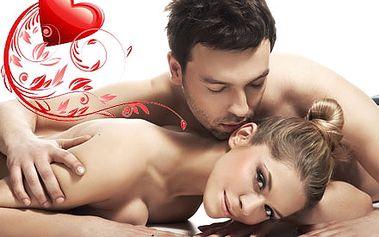 Valentýnská partnerská masáž v romantickém prostře...