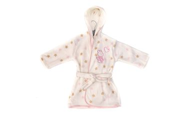 Heboučký růžový župánek s kapucí