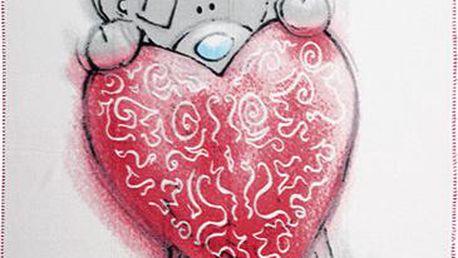 Flaušová deka Me to You Deka srdce Sketchbook
