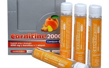 Wellness Food Carnitine 2000 - meruňka + zázvor 20 ampulí