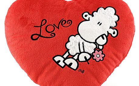 Polštář 31x28cm Sheepworld Polštář ve tvaru srdce LOVE 31x28 cm