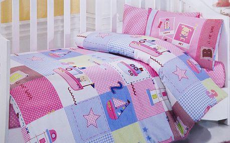 Set na spaní s přikrývkou loď - růžová
