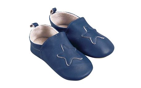 Krásné modré botičky s hvězdou
