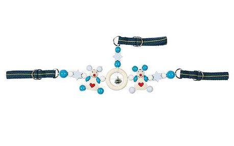 Řetěz do autosedačky modrý