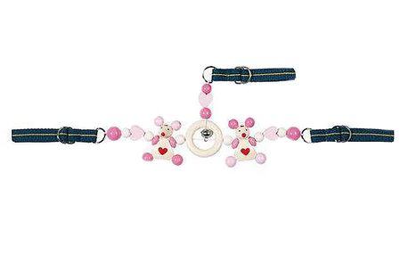 Řetěz do autosedačky růžový
