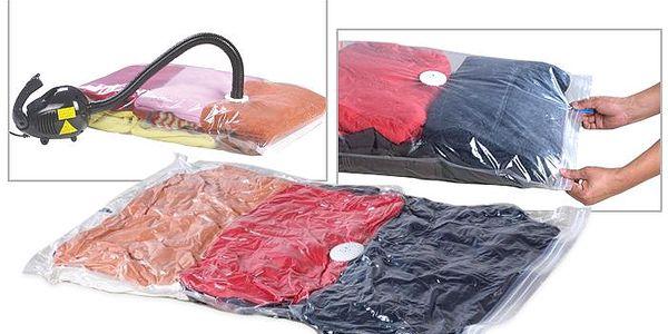 5x vakuové pytle pro snadné uskladnění prádla s úsporou místa – poštovné v ceně