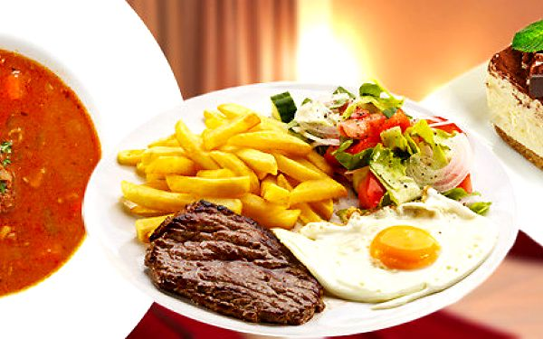 Výtečné obědové menu včetně dezertu