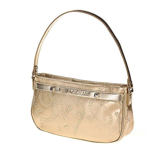 Dámská zlatá kabelka se vzorem Versace Jeans