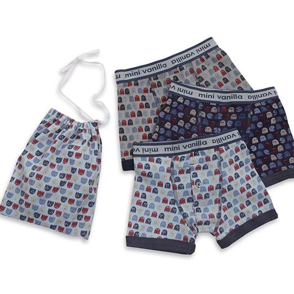 Sada chlapeckých boxerek - 3ks-Pack Man
