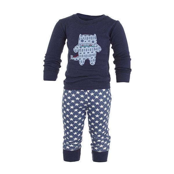 Parádní chlapecké hvězdičkované pyžamo s příšerkou