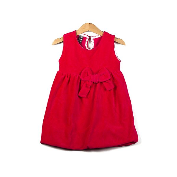 Červené šatičky s mašlí