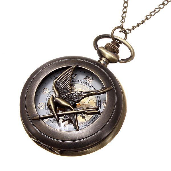 Vintage hodinky na řetízku - bronzové a poštovné ZDARMA! - 7707670