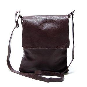 Dámská kožená tmavě hnědá taška přes rameno Renata Corsi