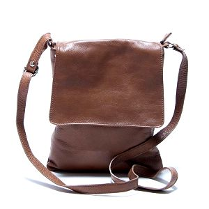 Dámská kožená hnědá taška přes rameno Renata Corsi