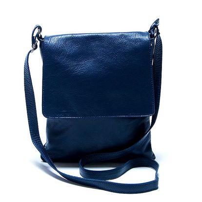 Dámská kožená modrá taška přes rameno Renata Corsi