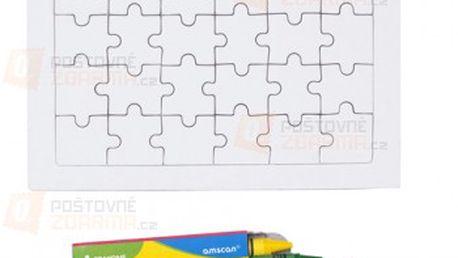 Kreslící puzzle s pastelkami a poštovné ZDARMA s dodáním do 3 dnů! - 13306702