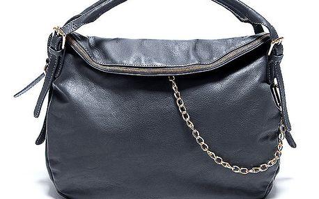 Dámská kožená šedá kabelka s řetízkem Renata Corsi