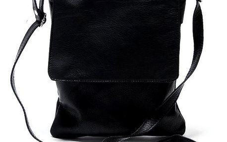 Dámská kožená černá taška přes rameno Renata Corsi