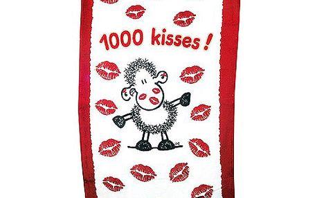 Ručník Kisses z kolekce Sheepworld 70 x 140 cm