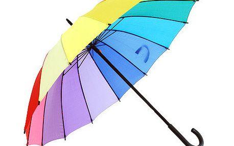 Bestseller Krásně barevný deštník Bright Rainbow Walker