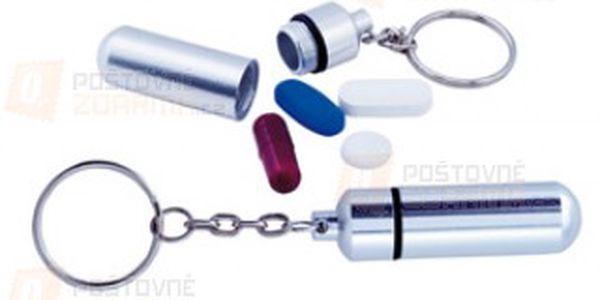 Malé pouzdro na léky ve formě přívěsku na klíče a poštovné ZDARMA s dodáním do 3 dnů! - 9206692