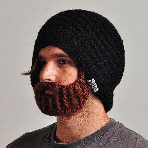 Čepice Beardo Original s odepínatelným plnovousem, černá