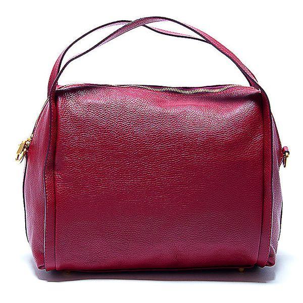 Dámská stylová červená kožená kabelka Renata Corsi