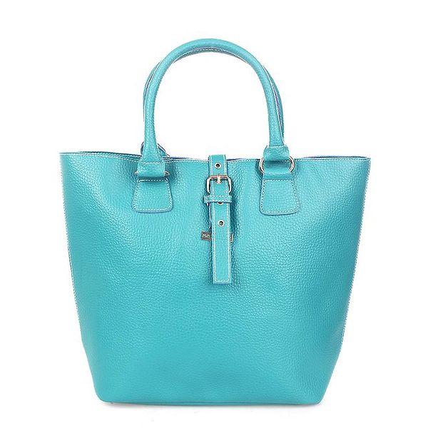 Dámská tyrkysová kabelka s modrými lemy Maku Barcelona