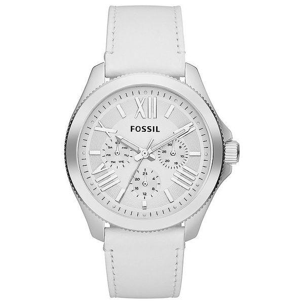 Dámské bílé analogové hodinky Fossil