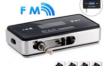 FM transmitter a handsfree do automobilu - konektor jack 3,5mm a poštovné ZDARMA! - 3707704