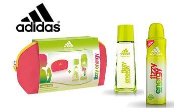 Adidas Fizzy Energy toaletní voda a deodorant v dárkové taštičce.
