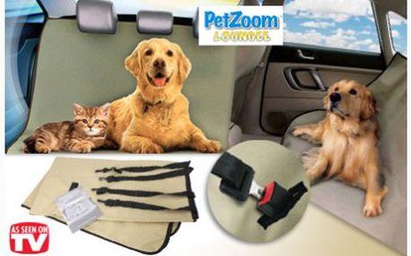 Ochranná psí deka do auta PETzoom Loungee ochrání zadní sedadla vašeho vozidla od špinavých tlapek a chloupků domácích mazlíčků!
