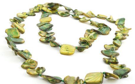 Náhrdelník DX38918. Zelené perleťové korálky rozjasní každý Váš outfit.