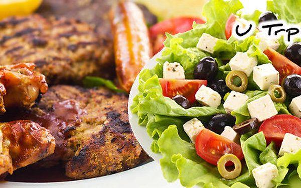 1,2 kg grilovaného masa + salát a pečivo