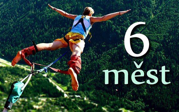Bungee jumping až ze 120 metrů a 6 městech